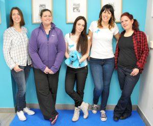 v.l. Danielle, Tammy, Nadia, Carole & Géraldine
