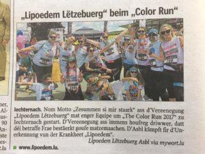 Colorrun Zeitungsartikel